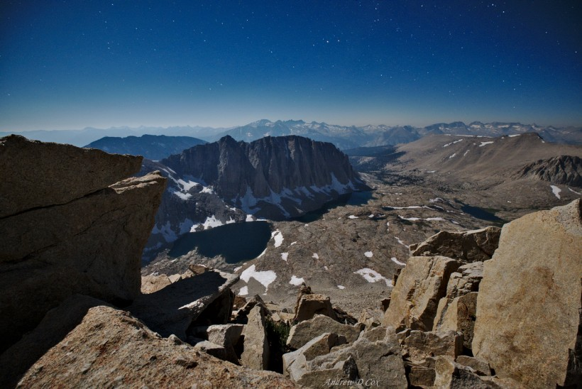 john muir trail moonlight landscape photography