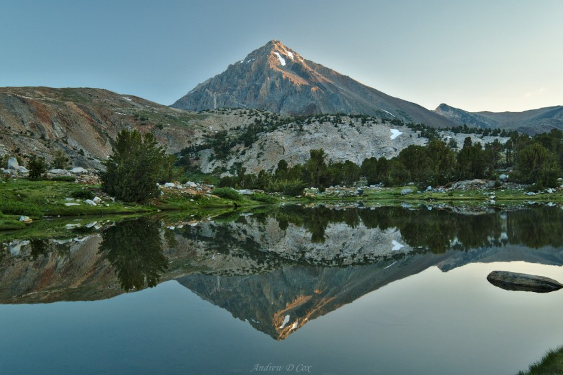 john muir trail mt wynne reflection