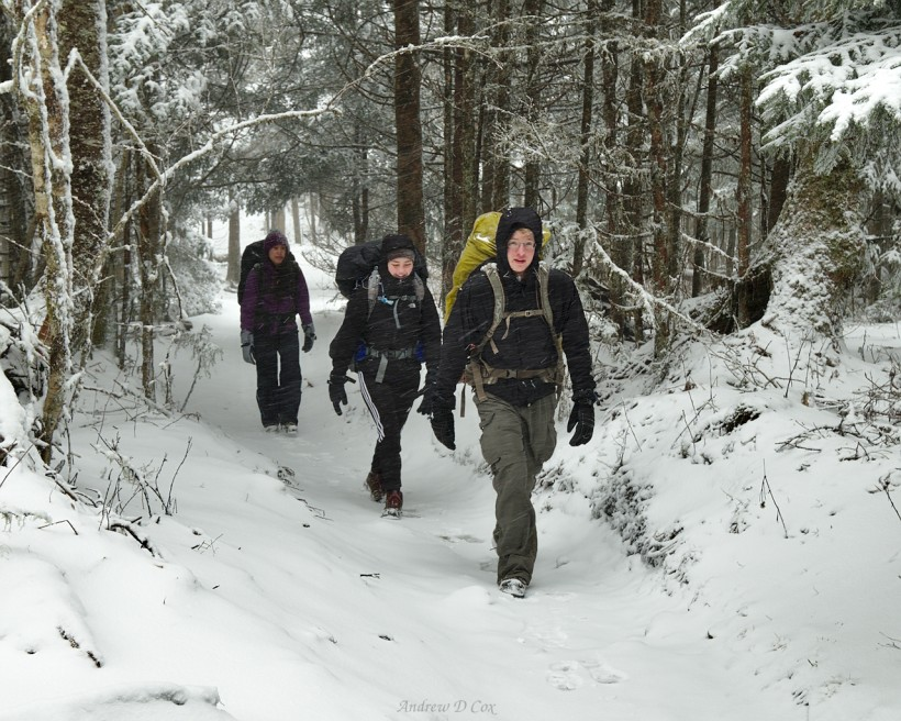 smoky mountains backpacking appalachian trail snow storm
