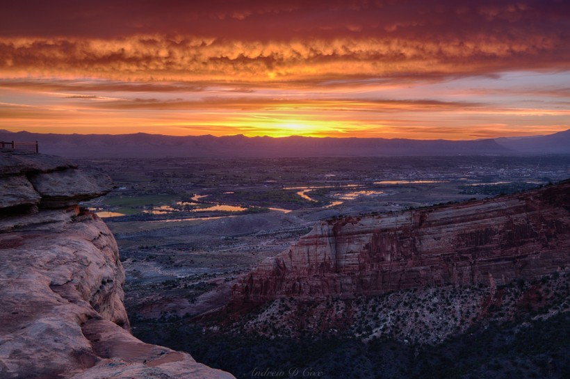 grand valley colorado river sunrise