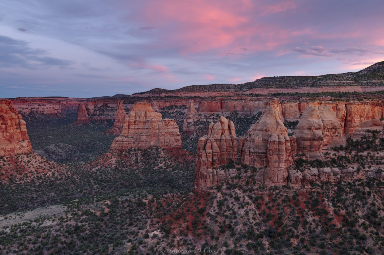 colorado national monument sunset