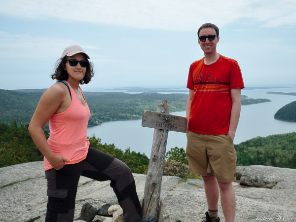 acadia day hiking mountain