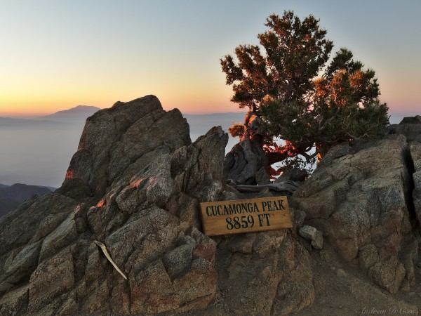 cucamonga peak sunrise sign