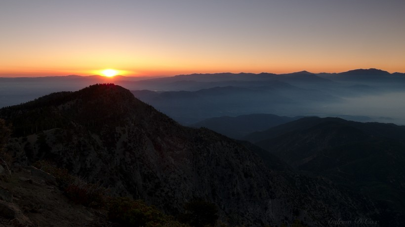 cucamonga peak sunrise