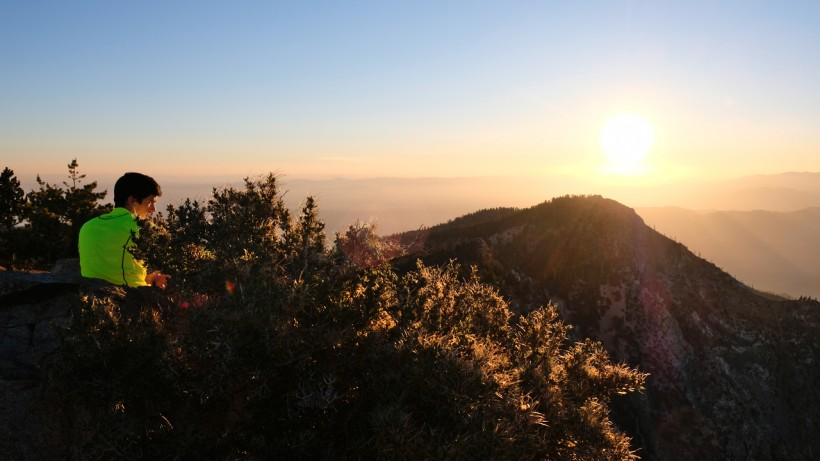cucamonga peak sunset