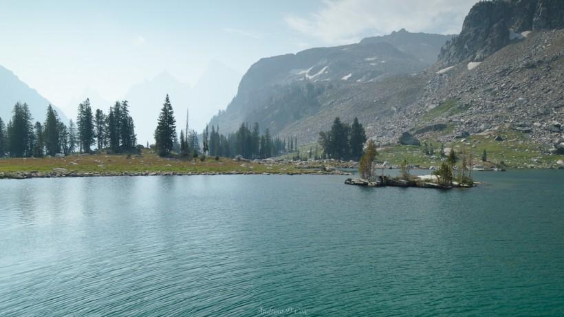 teton mountains lake solitude