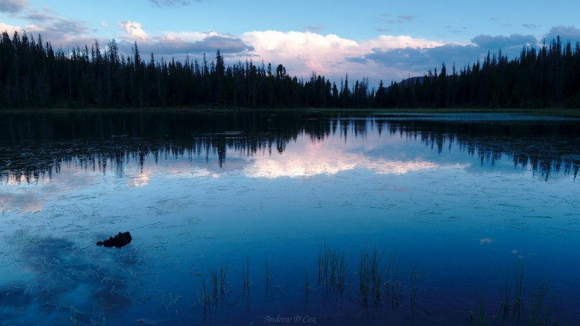 uinta mountains ouray lake dusk