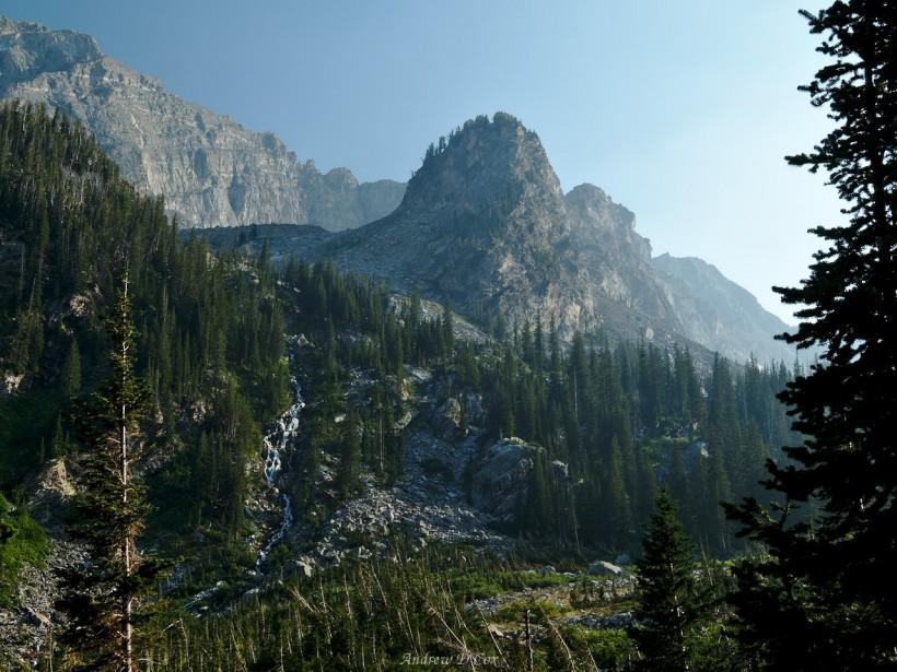teton mountains cascade