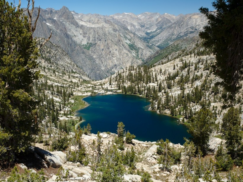 sierra high route lake