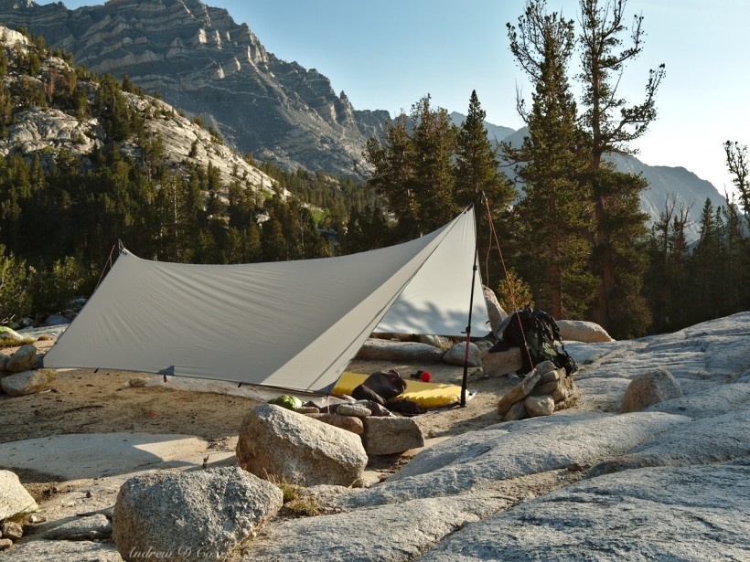 honeymoon lake camping tarp