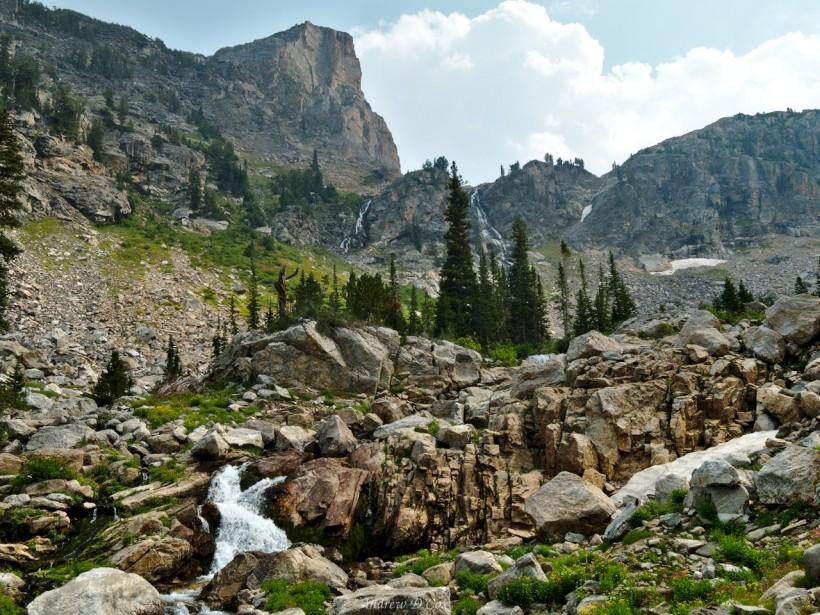 teton mountains cascades