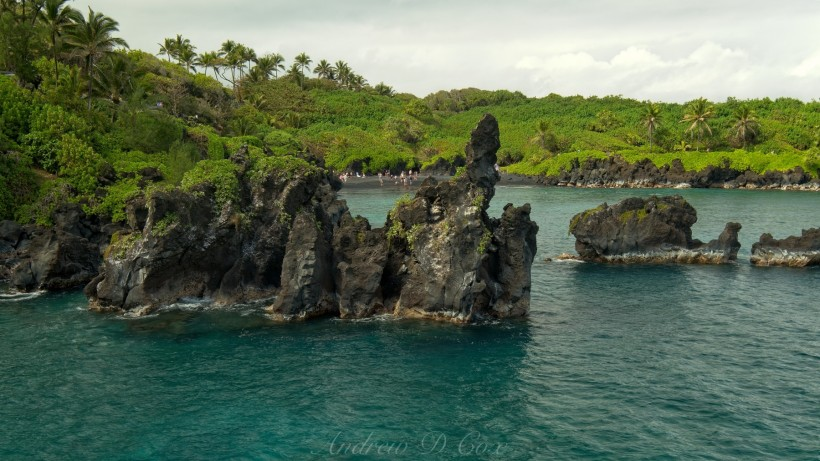 wai'anapanapa state park sea stacks