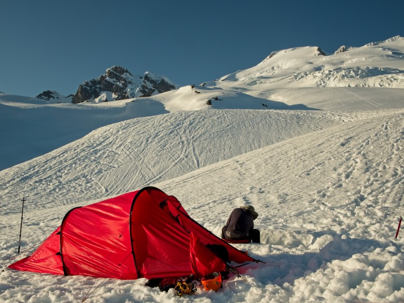 mount baker winter camping