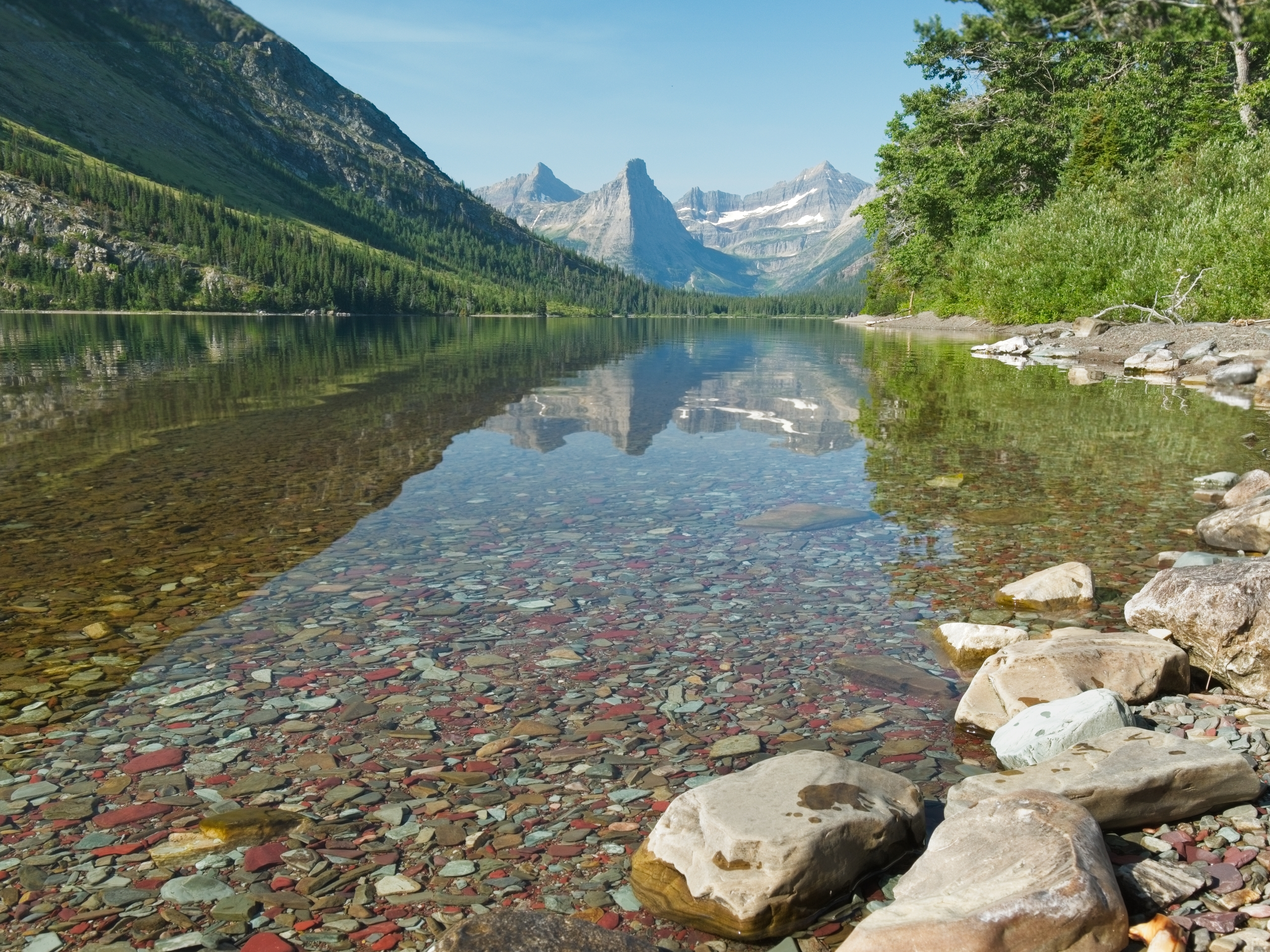 glacier national park cosley lake
