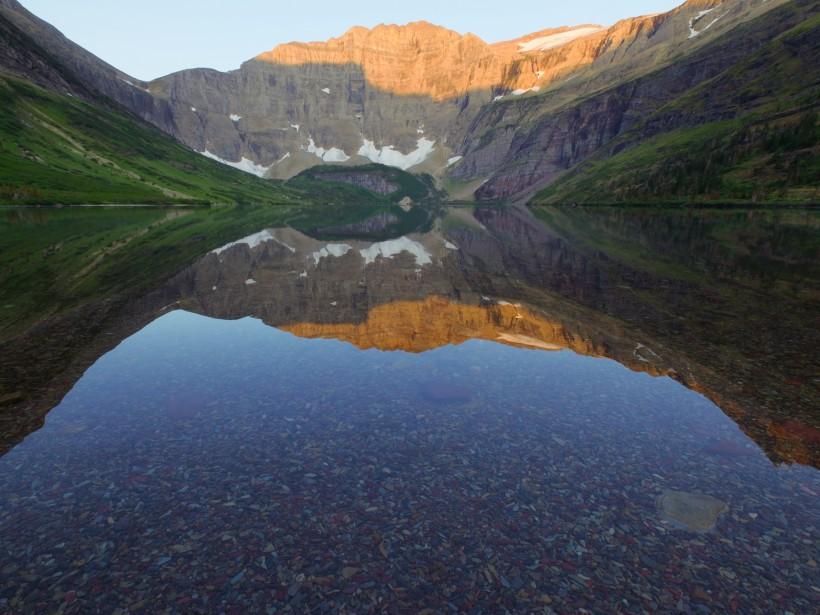 glacier national park helen lake