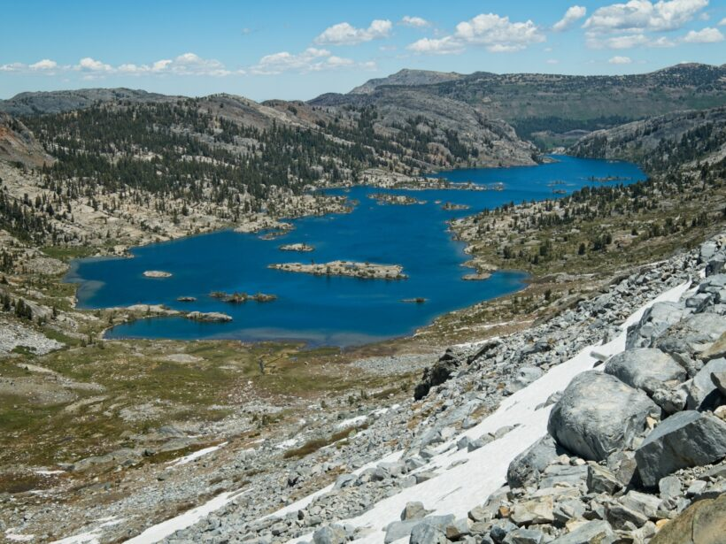 sierra high route garnet lake