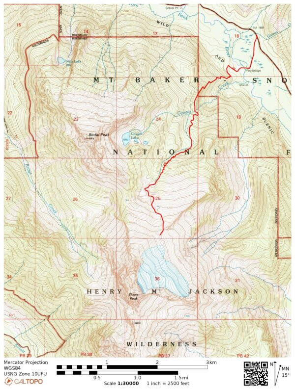 sloan peak map