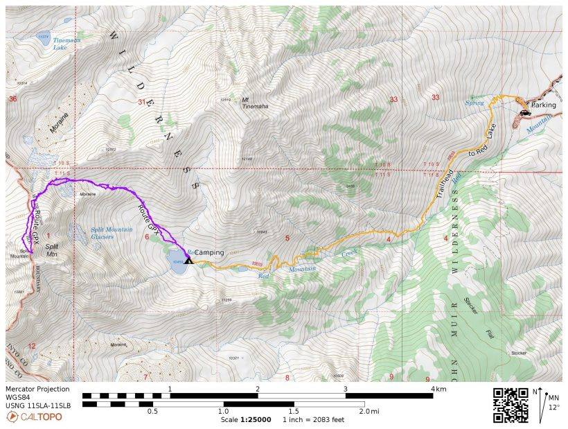 split mountain map