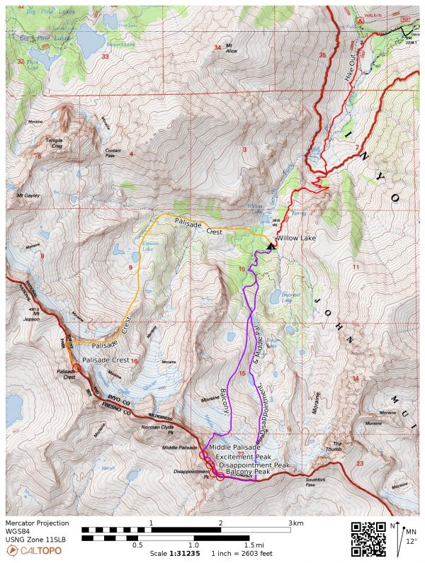 palisade mountaineering routes