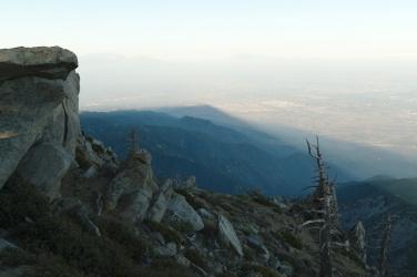 cucamonga peak mountain shadow