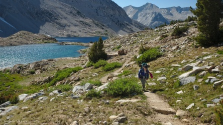 sierra high route lake marjorie
