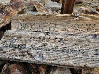 sierra high route baxter pass
