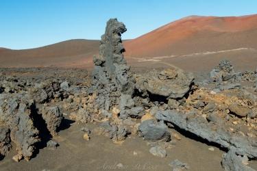 haleakala magma lava