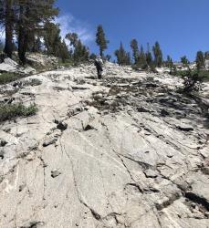 sierra high route granite ramps