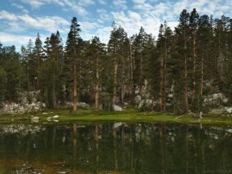 sierra high route lake