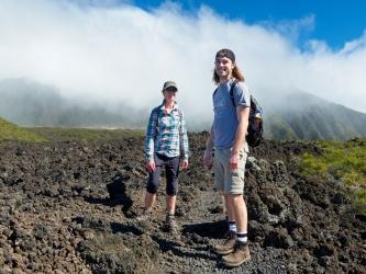 haleakala hiking mist cloud