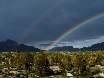 humphreys basin rainbow