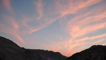 sierra high route sunset
