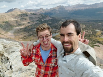 uinta mountains selfie