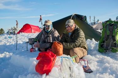 mount backer winter camping
